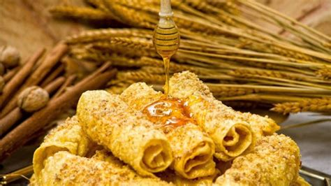 """It's our favorite place, too. Traditional Greek """"diples"""" with honey! 