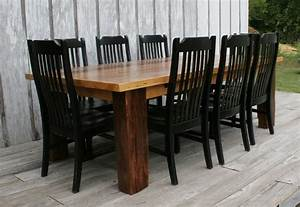barnwood table with black chairs i love my current With barnwood kitchen table and chairs