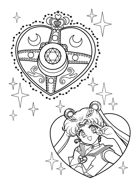 sailor moon  cartoons printable coloring pages