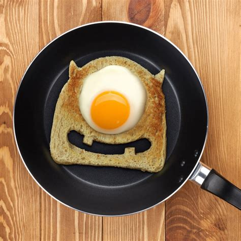 eyed egg monster toast cutter   cute  scary