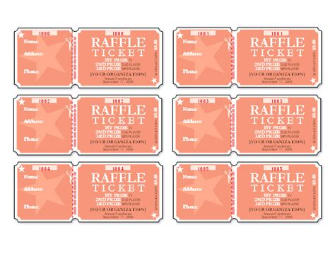 microsoft raffle ticket template raffle tickets 6 per page templates office com