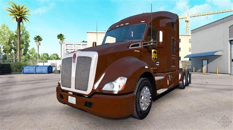 american truck kenworth ups skin for the kenworth tractor for american truck simulator
