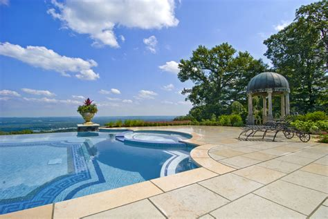 how to affordably design glass tile into a swimming pool