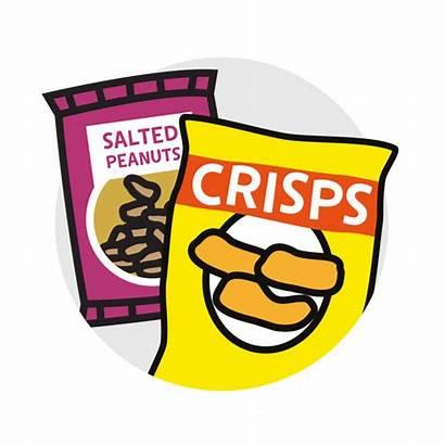 Salty Clipart Snack Salt Salted Nuts Crisps