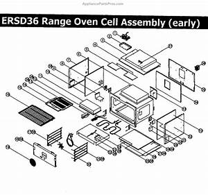 Parts For Dacor Ersd36lp  Oven Assembly Rev1 Parts