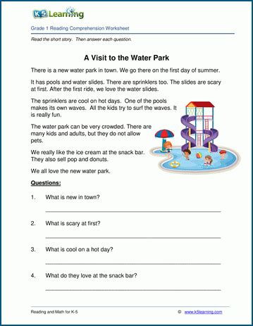 visit   water park grade  childrens story