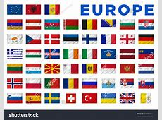 Europe Flags All European Countries Clipping Stock