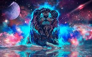 Lion, 4k, Artistic, Colorful, Hd, Animals, 4k, Wallpapers