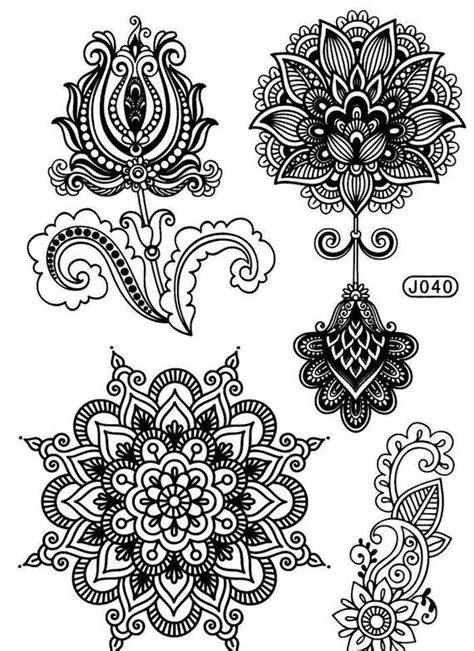 Mandala Tattoos - Lotus Flower Tattoo Mehendi / Henna inspired – TEMPOTATS