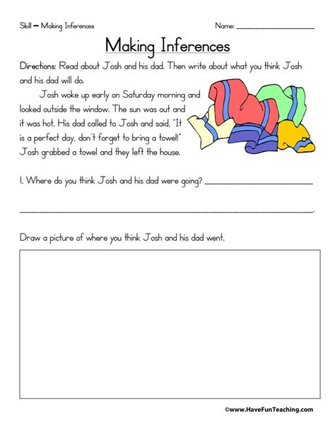 inferences worksheets page 2 of 2 have fun teaching