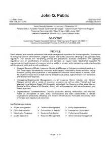 federal it specialist resume exles federal curriculum vitae help