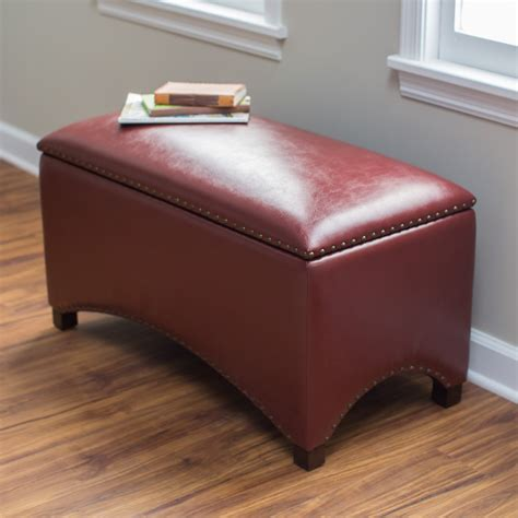 Living Storage Bench by Belham Living Hutton Leather Indoor Storage Bench Shopswell
