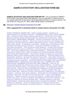 sle statutory declaration form 888 sle statutory