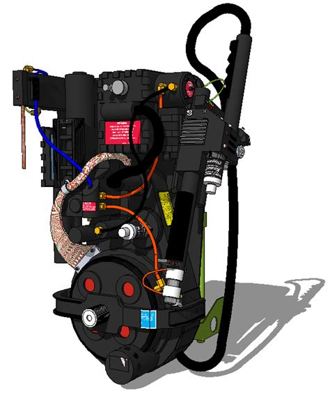 Ghostbusters Proton Pack Plans by 3d Sketchup Proton Pack Model Ghostbusters Fans