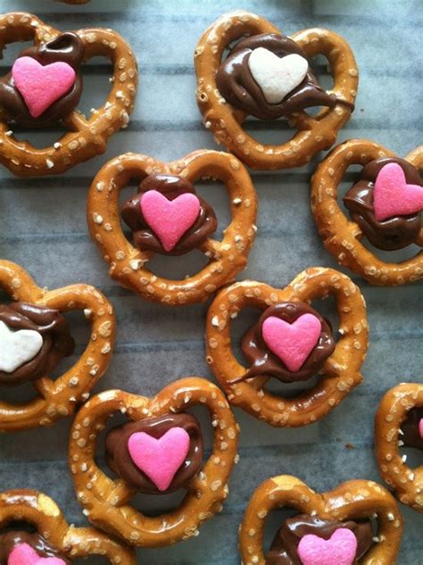 Chocolate Covered Valentine Pretzels Treat Ideas
