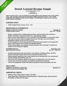 resume objective for a dental assistant dental hygienist resume sle tips resume genius