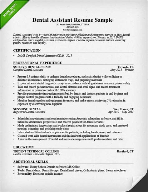 dental hygienist resume sle tips resume genius