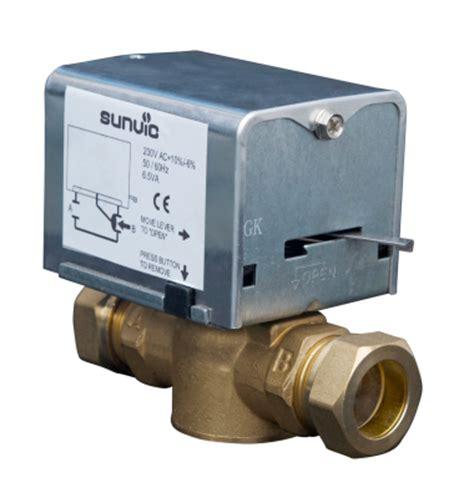sunvic controls ltd szv2655 zone valve motorised 2 port contract 22mm 230v ac forged brass