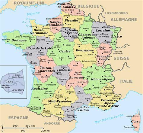 Carte De Avec Villes Principales Et Départements by Carte R 233 Gions Villes Effegetangesj