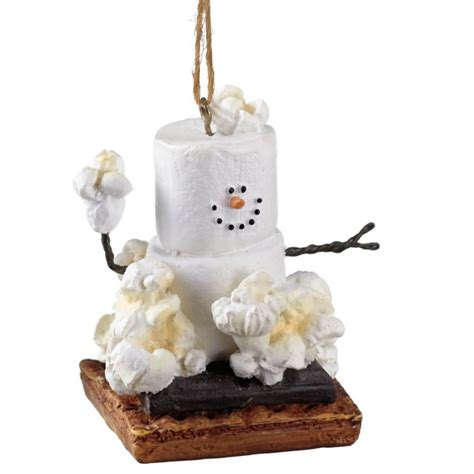 s mores popcorn christmas ornament