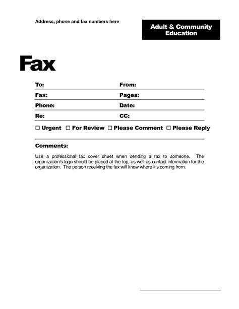 fax cover sheet template for pages lease templates free