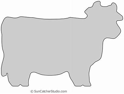 Board Cutting Pattern Printable Wood Cow Template