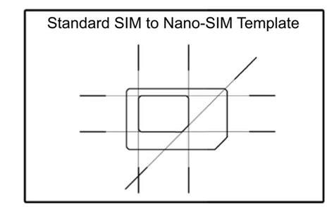 micro sim  nano sim template sim cutting guide