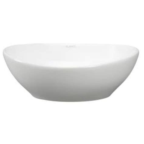 home depot white vessel sink elanti oval vessel bathroom sink in white ec9838 the