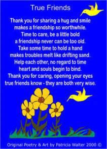 Friendship True Friend Poem