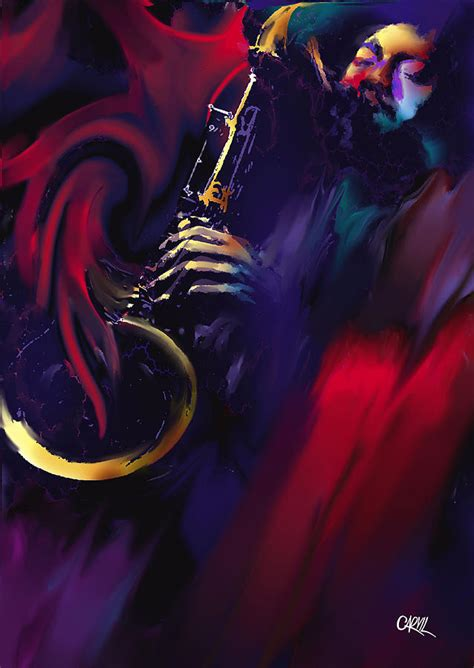 carvil will jazz sax painting by carvil