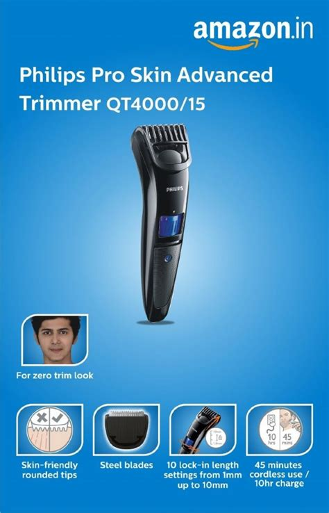 philips trimmer qt review trimmer men