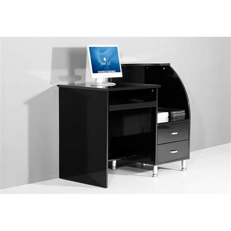 mars compact black high gloss computer desk computer