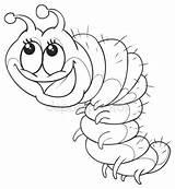 Inchworm Drawing Getdrawings sketch template