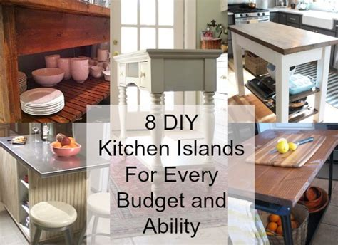 ikea kitchen island hack 8 diy kitchen islands for every budget and ability