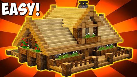 minecraft   build big wooden house big survival house tutorial pspsxboxmcpepc
