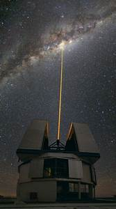 The Milky Way  Chile  The Observatory  Laser Towards