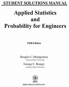 Applied Statistics And Probability For Engineers Solution Pdf