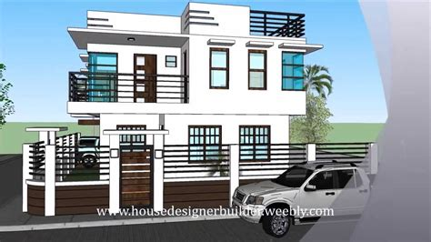 modern  storey house  roofdeck youtube