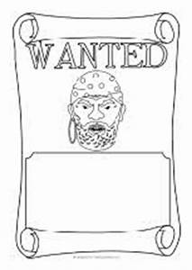 pirate wanted poster writing frames black and white With wanted pirate poster template
