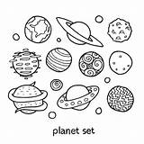 Coloring Planet Planets Pages Printable Getcolorings sketch template