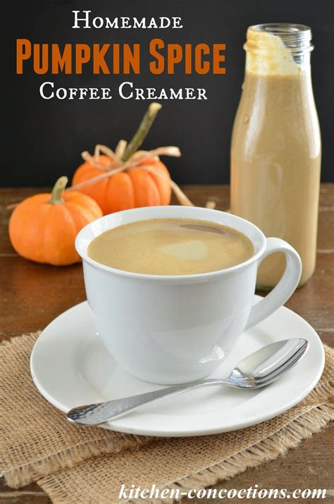 This creamer is so easy you are going to wonder why you these gluten free pumpkin spice donuts from gluten free palate and gluten free coffee cake. Homemade Pumpkin Spice Coffee Creamer {Two Ways} - Kitchen Concoctions