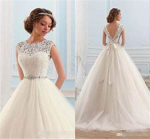 vintage 2016 a line wedding dresses cap sleeves sexy open With vintage a line wedding dresses