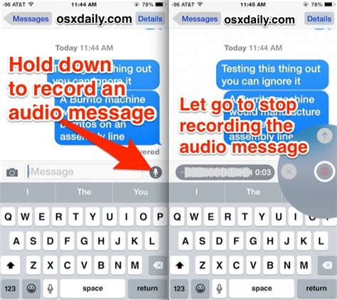 how to send message on iphone how to send a voice message on iphone how to use audio