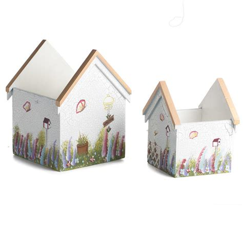 shabby chic craft supplies sunny afternoon shabby chic wood house planters birds butterflies basic craft supplies
