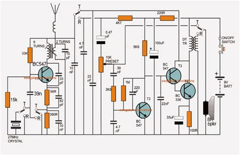 walkie talkie circuit diagram schematics diagram