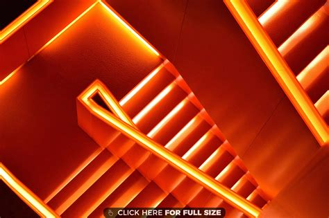 orange staircase hd wallpaper orange aesthetic neon