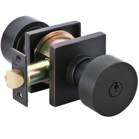 modern door knobs emtek keyed door knob