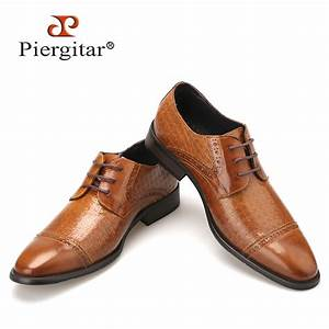 genuine leather brown men shoes 2016 italian style casual With men s wedding dress shoes