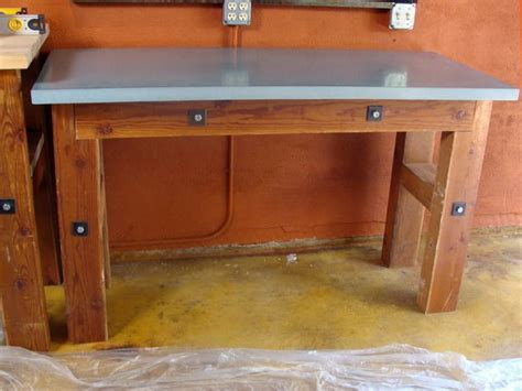 concrete countertop   workbench garage shelf diy