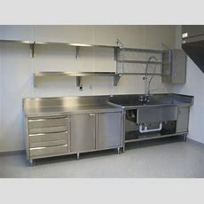 Stainless Shelves  Industrial Kitchen In 2019  Steel